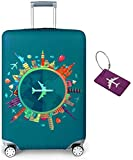 Limirror Koffer-Abdeckungen Kofferhülle, Koffer Hülle - Elastische Kofferschutzhülle mit Reißverschluss - Reisekoffer Überzug Case (Traum 1492, M/22-24)