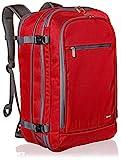 Amazon Basics Handgepäck Reiserucksack, mit Tragegriff und Schultergurt, 25+10L, 1,7kg Eigengewicht, Rot