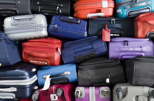 Gestapelte Koffer