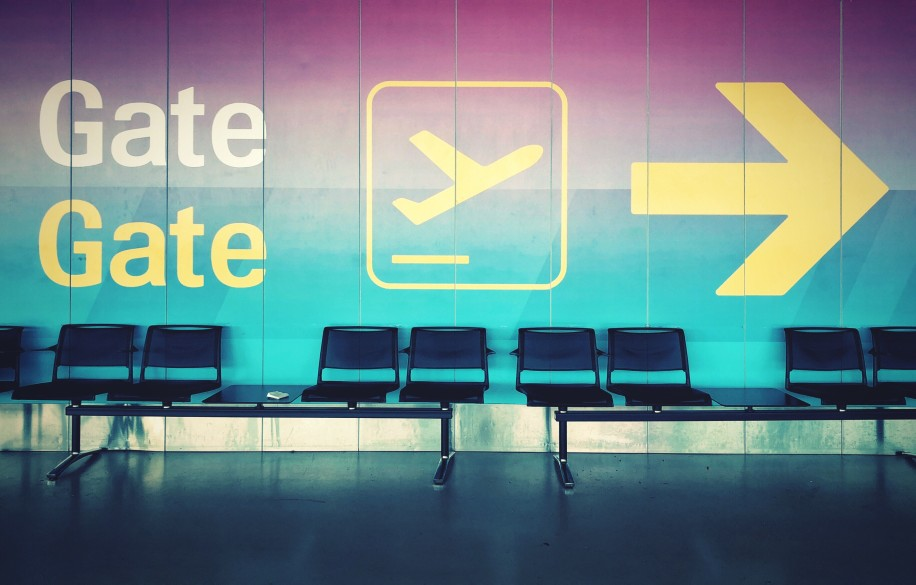 Last-Minute Reise am Flughafen